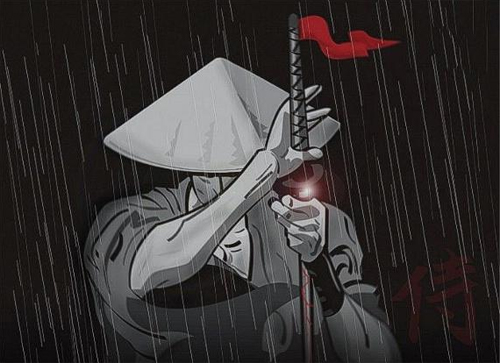 ninja bajo la lluvia