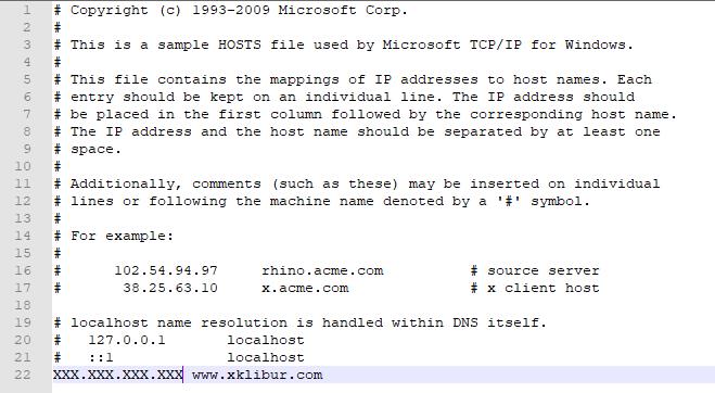 Modificar archivo hosts en Windows